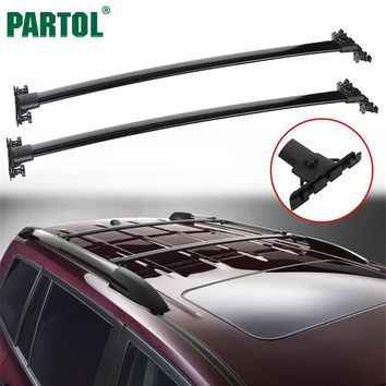 Partol Black Car Roof Racks Cross Bars Crossbars 132LBS/60KG Cargo Luggage Top Carrier Snowboard for TOYOTA HIGHLANDER 2008-2013