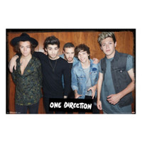 One Direction Wood Wall Poster