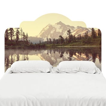 Picture Lake Headboard Decal