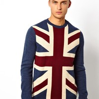 ASOS Flag Sweater - Blue
