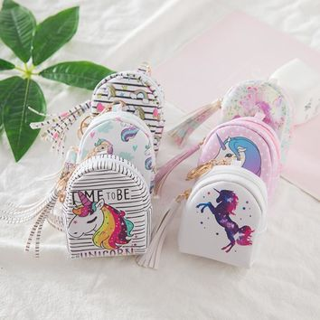 1 Pcs New Lovely Unicorn Children Purse Key Pack Unicorn Party Birthday Party Decorations Kids Baby Shower Gifts