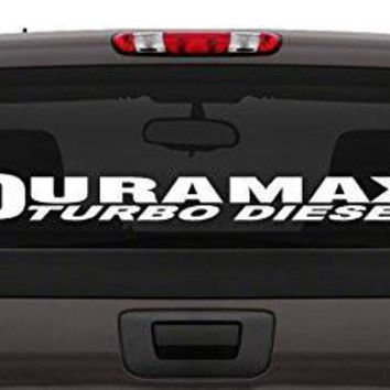 """Duramax Turbo Diesel"" Windshield Vinyl Banner Wall Decal"