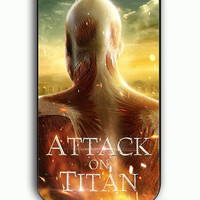 iPhone 5C Case - Rubber (TPU) Cover with Attack on Titan Cover Rubber Case Design