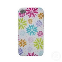 iphone4-4s case fun funky flowers from Zazzle.com