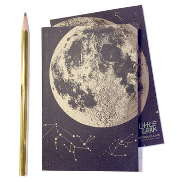 Full Moon Journal blank sketch book recycled paper by alittlelark