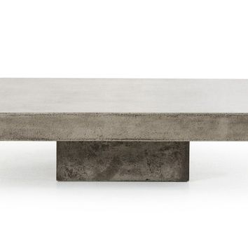 Modrest Morley Modern Square Concrete Coffee Table