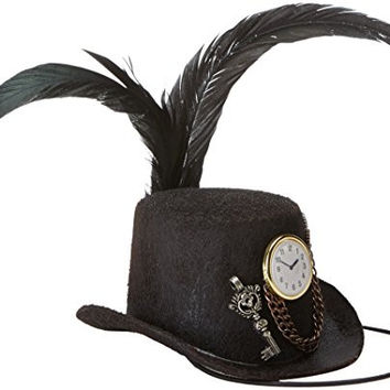 Mystery House Women's Victorian Mini Hat, Brown/Gold/Brass, One Size