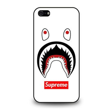 BAPE CAMO SHARK SUPREME WHITE iPhone 5 / 5S / SE Case Cover