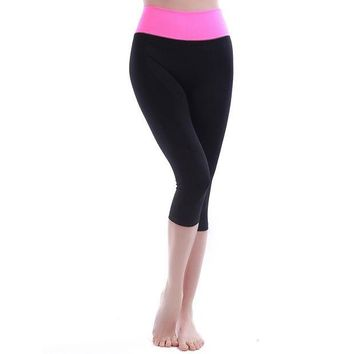 CREYON5L Ladies Mosaic Gym Capri Slim Yoga Pants Sportswear [6572622215]