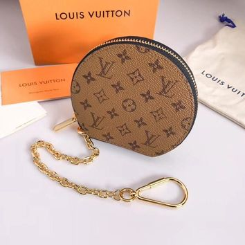 Louis Vuitton Lv Monogram Pouch Bag Charm And Key Holder Style 1 - Best Online Sale