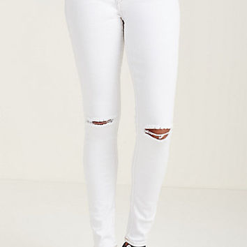 SUPER SKINNY KNEE SLIT WOMENS JEAN