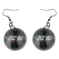 American Horror Story Coven Dangle Button Earrings