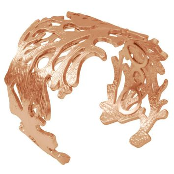 ANAIS BRUSHED CUFF IN ROSE GOLD
