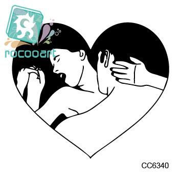 Rocooart CC6340 Sexy Old School Make Love Sprint Time Temptation Temporary Tattoo Sticker Body Art Water Transfer Fake Taty