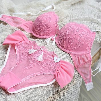 ac DCCKB5Q Ladies Bra Set Sexy Lace Cup Underwear [9007931139]