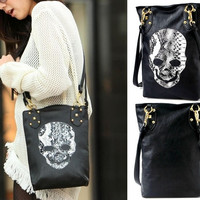 New Trendy Lady Womens Skull Messenger Handbag Shoulder Bag Totes Purse Hobo Purse PU Leather = 1932936452