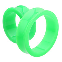 Supersize Neon Colored Acrylic Double Flared Ear Gauge Tunnel Plug