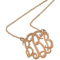 [N/L]-Monogram Necklace ~B~ Rosegold
