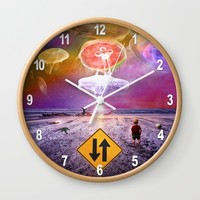 The Day of the Jellies Wall Clock by Peter Gross