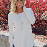 The Perfect Long Sleeve Top - White