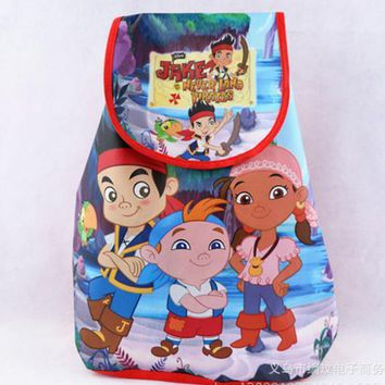 12Pcs Jake and the Never Land Pirates Kids Drawstring Printed Backpack Beach Shopping School Traveling Bags Birthday Gifts