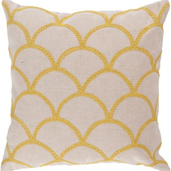 Meadow Throw Pillow Neutral, Yellow