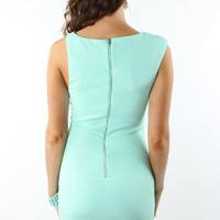 Asymmetric Mint Bodycon