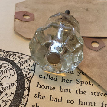 Vintage Clear Glass Knob Drawer Pull For Furniture Coat Rack Wall Hook Victorian Home Vintage Decor Old Fashion Knob