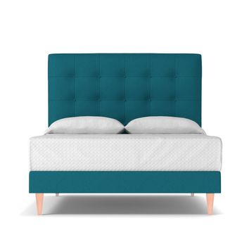 Palmer Drive Upholstered Bed EASTERN KING in BILOXI BLUE - CLEARANCE