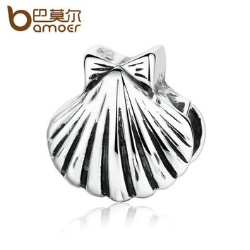 Silver Color Sea Shell Vivid Charms Fit DIY Bracelets & Bangles for Women Accessories PA5314