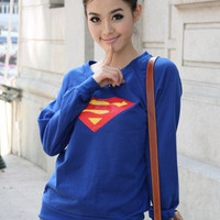 Fashion Superman Long Sleeve T-shirt = 1945868036