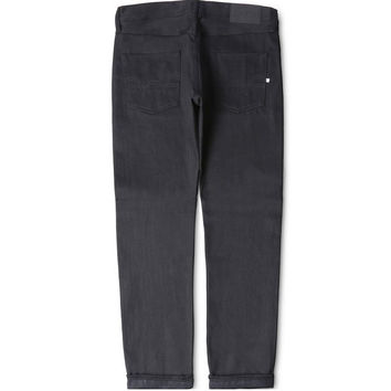 Edwin Jeans ED-55 Tapered Fit - White Listed Black Selvage - Unwashed