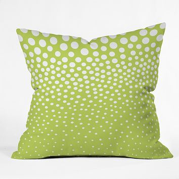 Elisabeth Fredriksson Lime Twist Throw Pillow