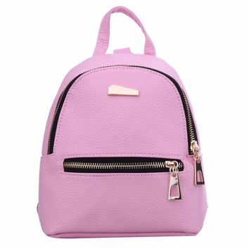 Simple Designer Small Backpack Women Backpack schoolbag for Teenager Girls Casual Student Kids Travel Bag Backpack Mochila