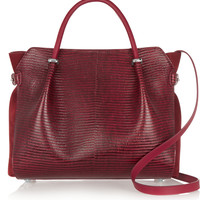 Nina Ricci - Marché lizard-effect leather and suede tote