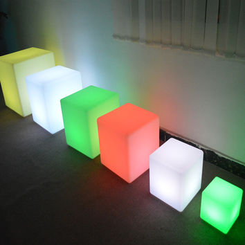 50cm 19.6inch night club outdoor indoor decoration party LED cube chair bar table Stools Remote control 16 colors