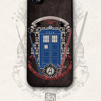 crest of the knight of fandom / Supernatural, Doctor Who, Sherlock, Avengers, Potter, Star Trek, Merlin, Hobbit