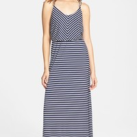 Junior Women's Socialite Stripe Knit Maxi Dress