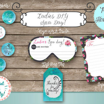 Best spa party invitation products on wanelo for Spa mask invitation template