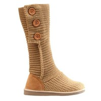 Multi-Button Design Knitted Boots