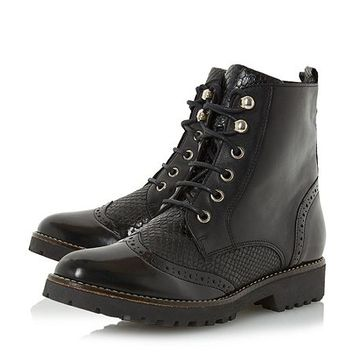 Parka brogue detail ankle boots