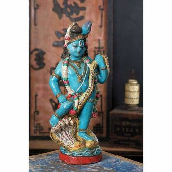 Vintage Indian Clay Statue