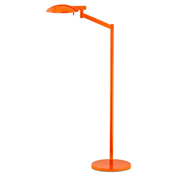 Pharmacy Swing-Arm Floor Lamp, Orange, Floor Lamps