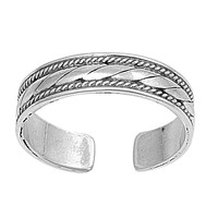 Sterling Silver Bali 5MM Toe Ring/ Knuckle/ Mid-Finger