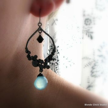LILLIANGunmetal Bubbles Chandelier Earrings with by BlondeChick