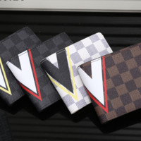 LV  cross section Leather Fashion Wallet [305715707933]
