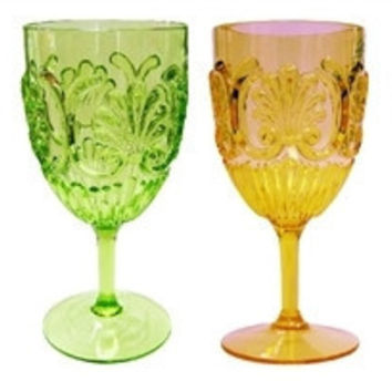 Fleur Indoor/ Outdoor Drinkware S/6
