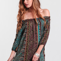 Crystal Visions Off-Shoulder Dress