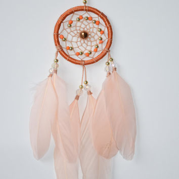 Blush Feathers  Car Dream catcher, Car Decor, Car Rear View Mirror Charm, Gift Idea For Men/ Women, Hanging Decor,