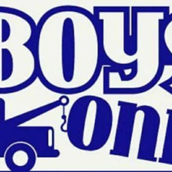 Boys only tow truck yeti decals